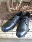 PADRONE : EMBOSSED DERBY SHOES (NAVY)