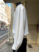 ETHOSENS(エトセンス)Silk shirring shirt/IVORY