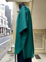 ETHOSENS(エトセンス)SILK SHORT SLEEVE SHIRT/Green