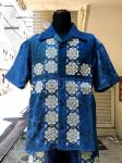 ink(インク):BANDANA PATTERN SHIRT/BLUE/M ②
