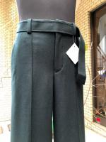 ETHOSENS(エトセンス)Pin tucked wide slacks/Green