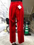 ETHOSENS(エトセンス)TUCKED SLACKS/RED